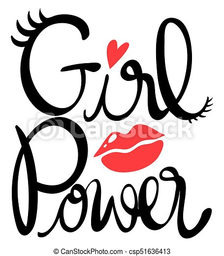 word expression for girl power illustration vector clip art search rh canstockphoto com power clipart free power clipart free