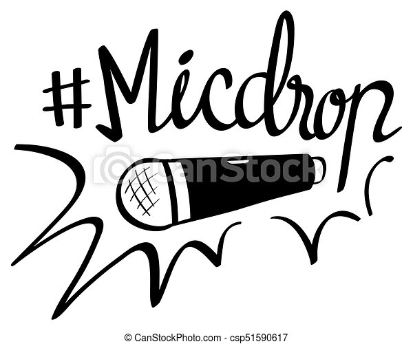 Word Expression For Micdrop Illustration