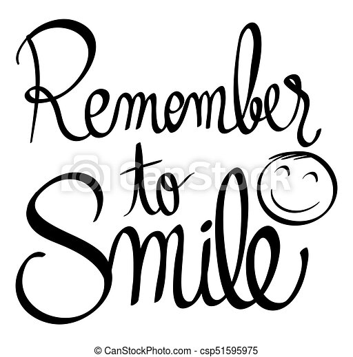 Word Expression For Remember To Smile Illustration