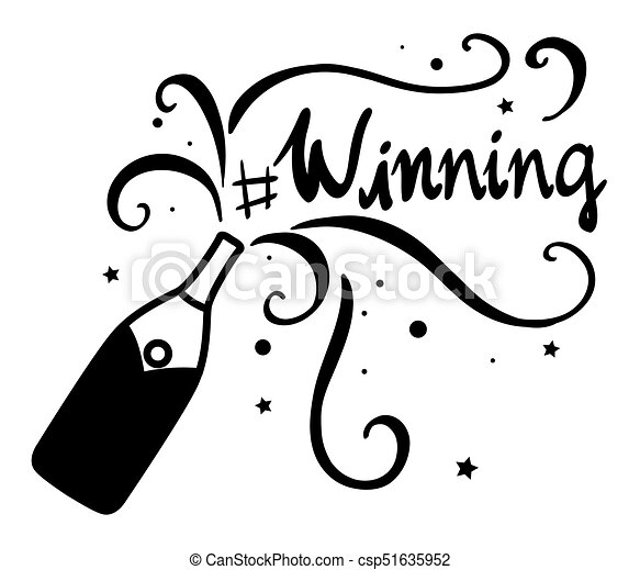 Word Expression For Winning Illustration