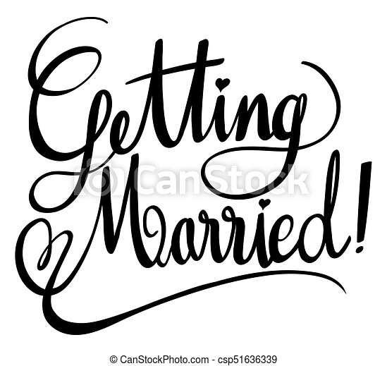 word expressions for getting married illustration vectors search rh canstockphoto com get married clipart Clip Art Stick Figure Getting Married