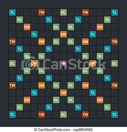 Word game board - csp9804582