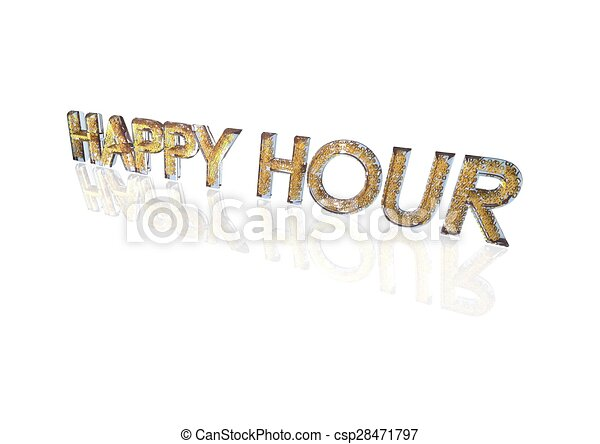 Word Happy Hour Made From Percentage Symbols Word Happy Hour Made