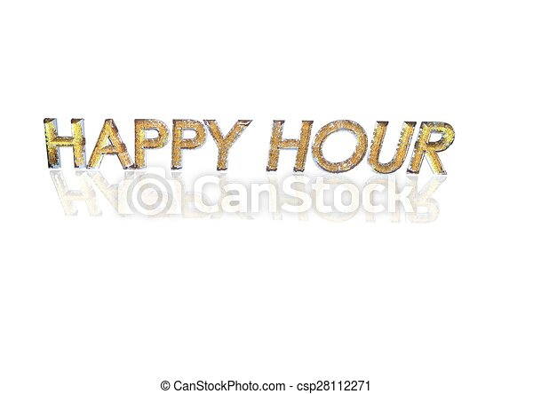 Word Happy Hour Made From Percentage Symbols Word Happy Stock
