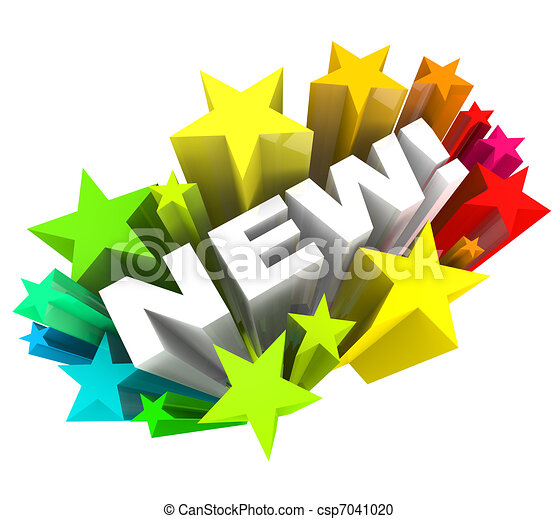 Word in Stars Announcing Brand New Product or Improvement - csp7041020
