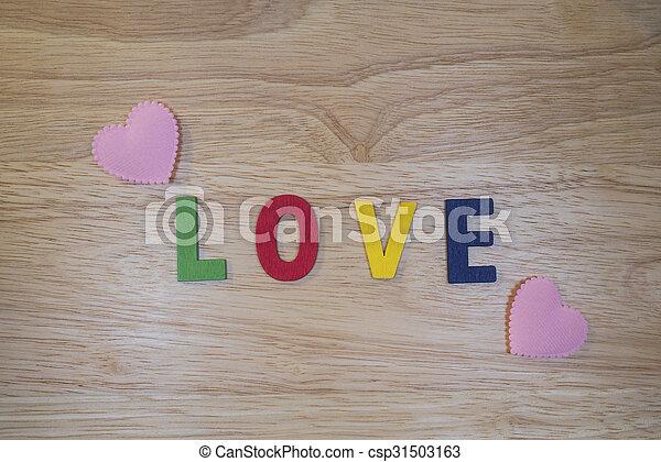 Word Love 1 - csp31503163