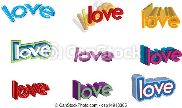 Word Love Clipart Set
