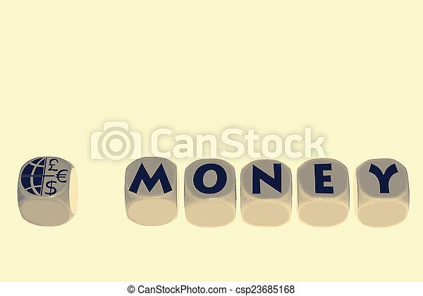 word MONEY on cubes - csp23685168