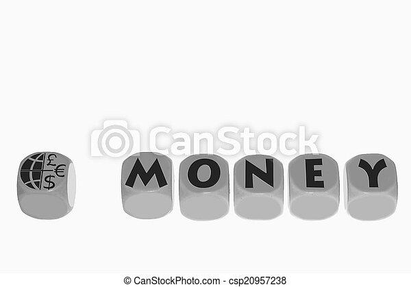 word MONEY on cubes - csp20957238
