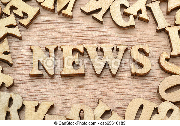 Word News made with wooden letters - csp65610183