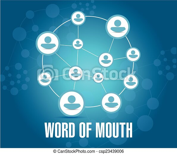 word of mouth people network illustration design - csp23439006