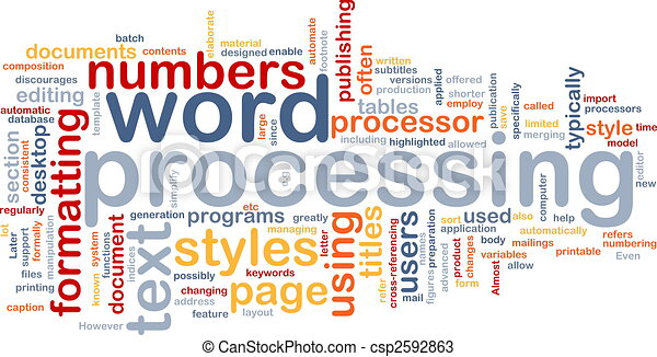 """Word-Graphic Featuring """"Word Processing"""""""