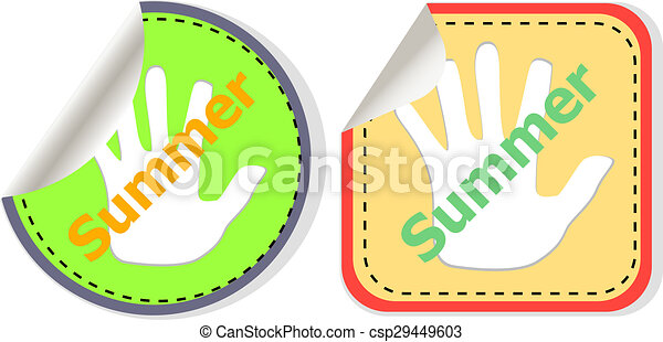 word summer web button isolated on white background, icon design - csp29449603