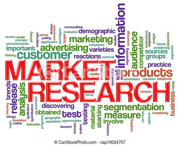 word tags market research illustration of wordcloud of market