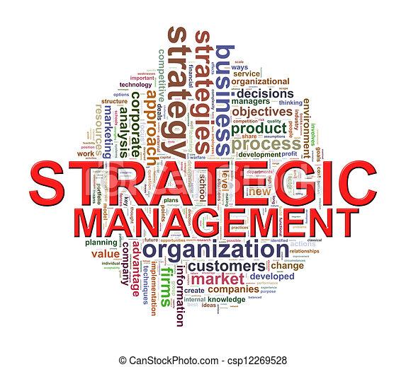 word tags of strategic management illustration of strategic
