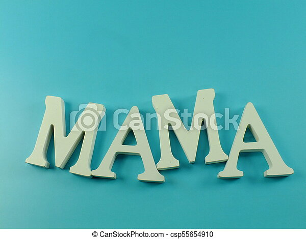 word text mom with space background mothers day concept - csp55654910