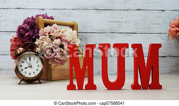 word text mom with space background mother's day concept - csp57588541