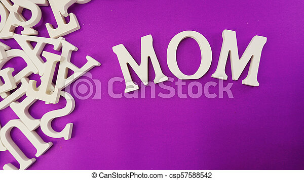word text mom with space background mother's day concept - csp57588542
