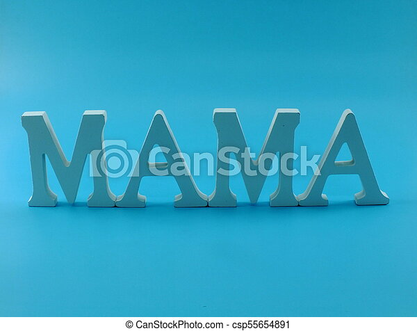 word text mom with space background mothers day concept - csp55654891