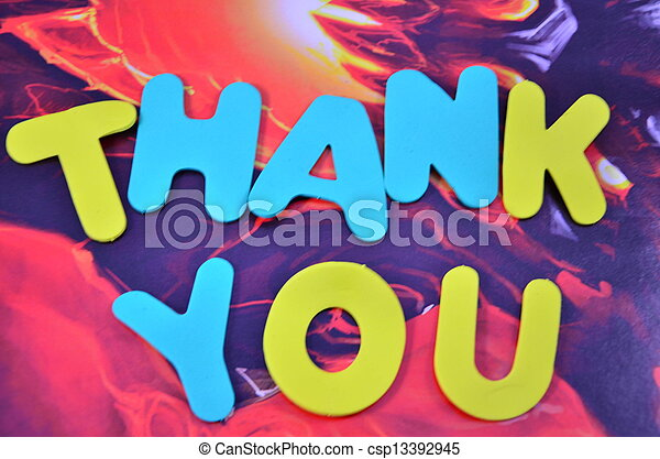 Word Thankyou Word Thank You On A Abstract Background