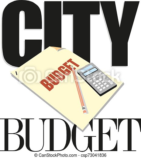 Word writing text city budget Vector illustration - csp73041836