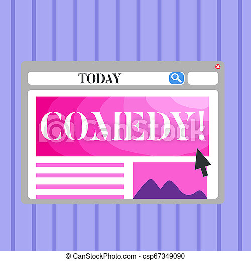Word Writing Text Comedy Business Concept For Fun Humor Satire