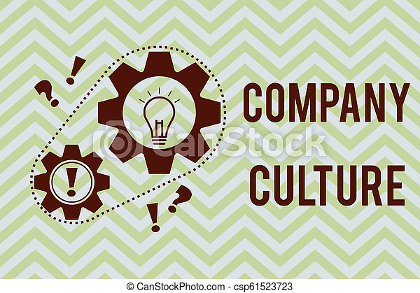Word writing text Company Culture. Business concept for The environment and elements in which employees work - csp61523723