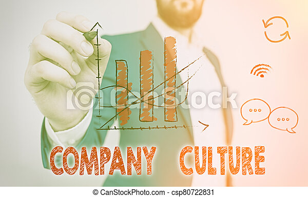 Word writing text Company Culture. Business concept for The environment and elements in which employees work. - csp80722831