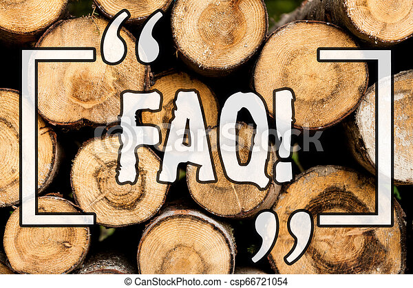 Word writing text Faq. Business concept for Frequently asked question for clearing up confusions Wooden background vintage wood wild message ideas intentions thoughts. - csp66721054