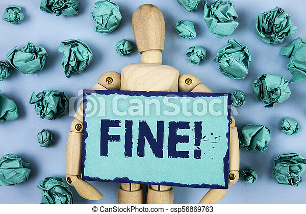Word writing text Fine Motivational Call. Business concept for No hidden charges from large moving companies written on Sticky note paper within Paper Balls on plain background Jointed Toy - csp56869763