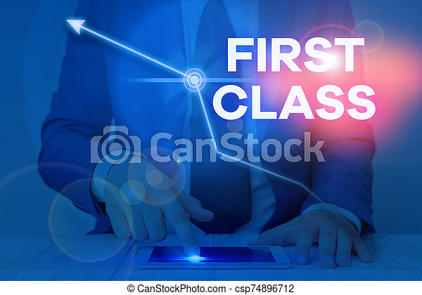 Word Writing Text First Class Business Concept For The Most Expensive And Most Luxurious Class Of Accommodation Word