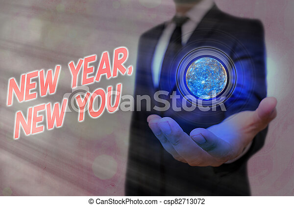 Word writing text New Year, New You. Business concept for coming January Changing an individualality for a better an individual Elements of this image furnished by NASA. - csp82713072
