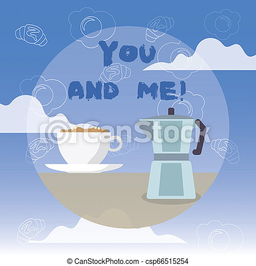 Word writing text You And Me. Business concept for Couple Relationship compromise Expressing roanalysistic feelings. - csp66515254