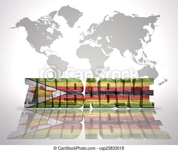 Word zimbabwe on a world map background. Word zimbabwe with ...