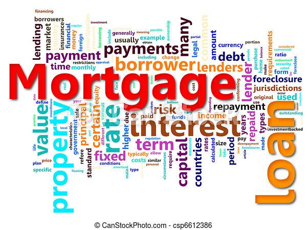 Hipo de hipoteca - csp6612386