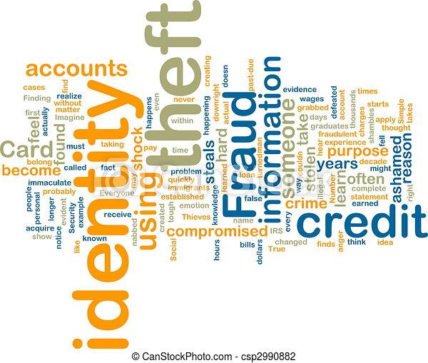 wordcloud, identiteit diefstal - csp2990882