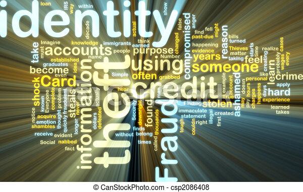 wordcloud, identiteit diefstal, gloeiend - csp2086408