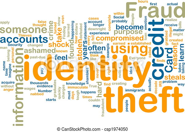 wordcloud, identiteit diefstal - csp1974050