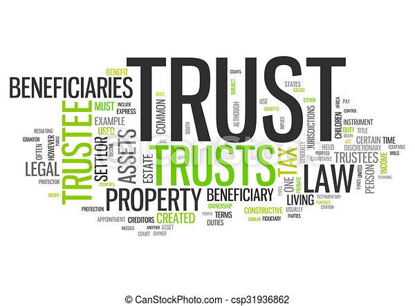 Wordcloud Trust - csp31936862