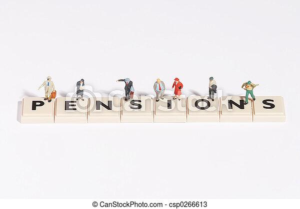 wordgames-, pension - csp0266613