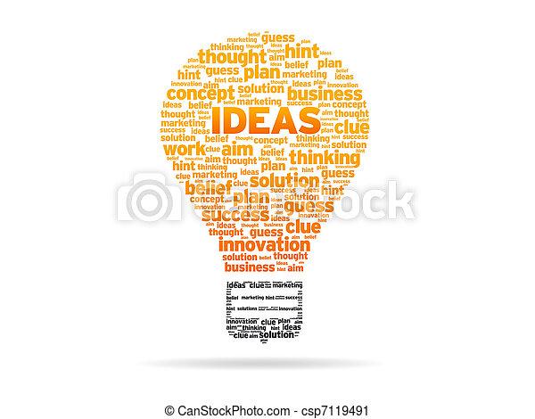 Words - Ideas - csp7119491