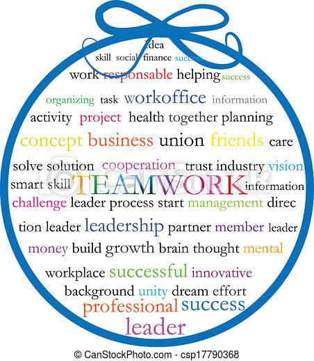 Words teamwork meaning logo - csp17790368