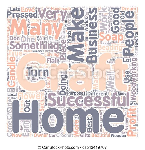 Work At Home Craft Business Text Background Wordcloud Concept