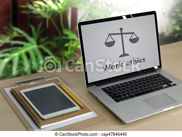 Work ethics Justice Law Order Legal working Professional - csp47846440