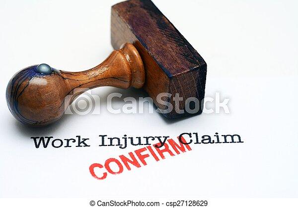 Work injury claim - confirm - csp27128629