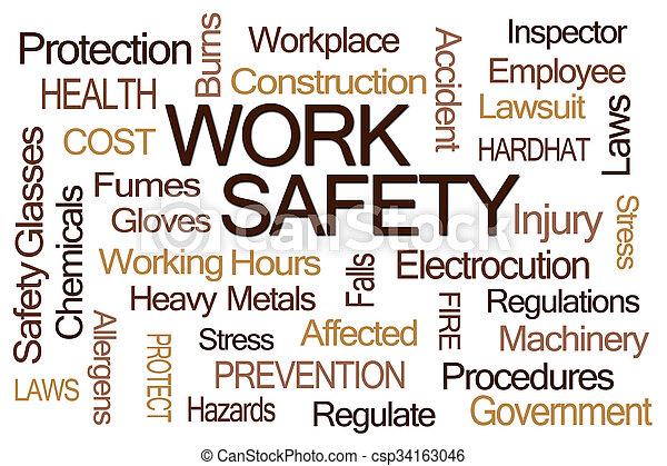 Work Safety Word Cloud - csp34163046