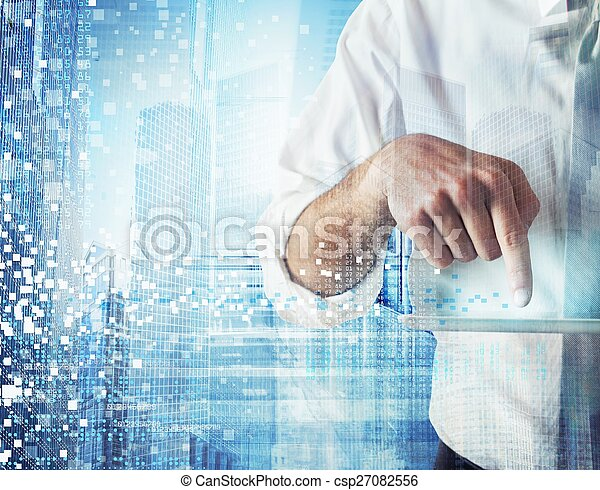 Work with technology - csp27082556
