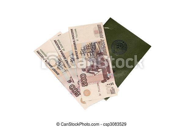 workbook and money - csp3083529