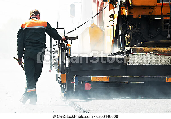 worker at asphalting works - csp6448008
