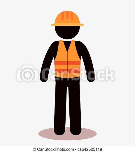 worker construction avatar icon - csp42525119